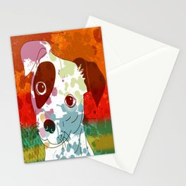 Abstract Colorful Jack Russel Terrier  Stationery Cards