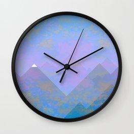 snowy peak Wall Clock