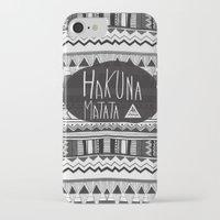hakuna iPhone & iPod Cases featuring HAKUNA MATATA  by Vasare Nar