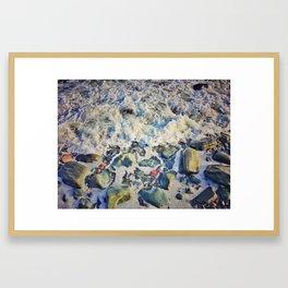 Pebble Wash - It Down Framed Art Print