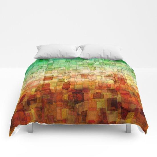 Golden Tide Mosaic Comforters