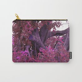 Pink red alien planet tree bright Carry-All Pouch