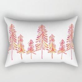 Pine Trees – Pink & Peach Ombré Rectangular Pillow