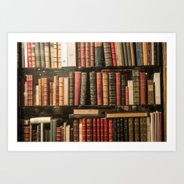 Vintage Books in Paris Art Print