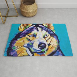 Pop Art Husky Rug