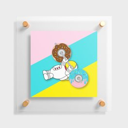 Astro Donut Dumbbell   Astronaut   Cosmonaut   pulps of wood Floating Acrylic Print
