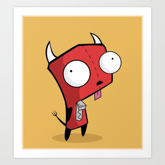 Devil Gir Art Print