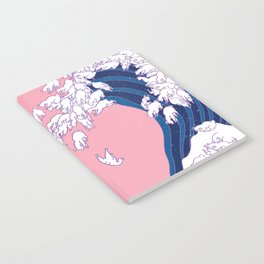 Llama Waves in Pink Notebook