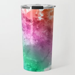 Watercolour splatter in rainbow colours Travel Mug