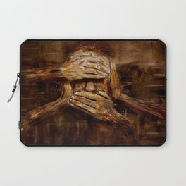 No see - No hear - No speak ! Nothing ! Laptop Sleeve
