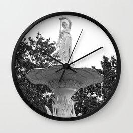Fountain Statue Wall Clock