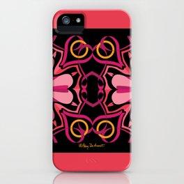 Lyrical Love Mandala x 2 - Pink Black iPhone Case
