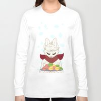 macaron Long Sleeve T-shirts featuring Macaron Time by Timid Arts