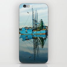 Boat Reflection iPhone & iPod Skin