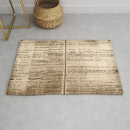 Post Office Postmaster Appointments Antique Paper Rug