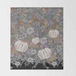 fall pumpkin Throw Blanket