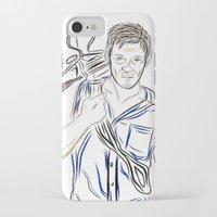 daryl dixon iPhone & iPod Cases featuring Daryl Dixon by Salina Ayala