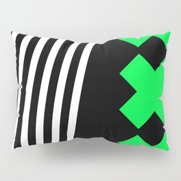 Bold Minimalism 2 (black and neon green) Pillow Sham