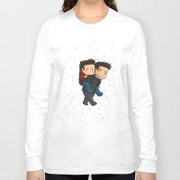 sterek Long Sleeve T-shirts featuring Sterek Piggyback by agartaart