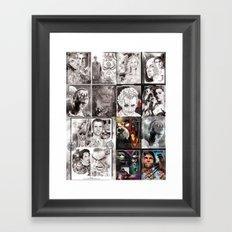 Combo image Framed Art Print