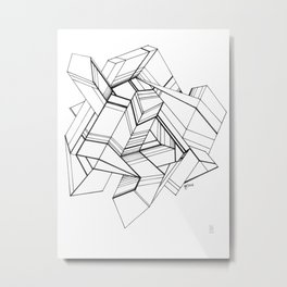 Geo Tactic 3, Sketch Metal Print