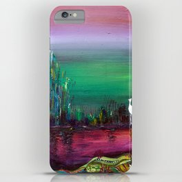 Egret in the Willows iPhone Case