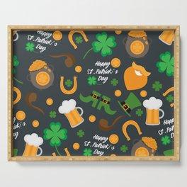 Saint Patrick's Day Pattern Serving Tray