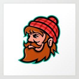 Paul Bunyan Lumberjack Mascot Art Print