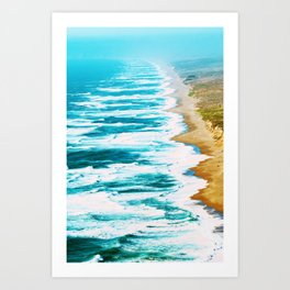 Live By The Sea #society6 #decor #buyart Art Print