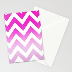 PINK CHEVRON FADE 2 Stationery Cards