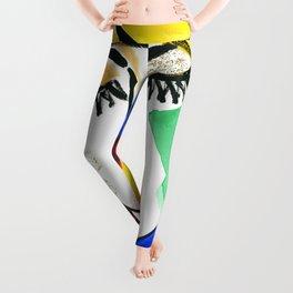 Girl Portrait Pop Art Leggings