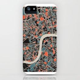London Multicoloured Print iPhone Case
