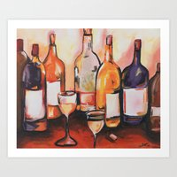 wine Art Prints featuring Wine by chelzart