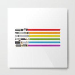 Lightsaber rainbow Metal Print