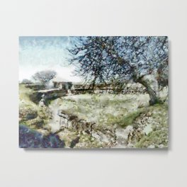 Paestum: amphitheater and trees Metal Print