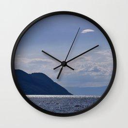 Leman Lake. Alps. Switzerland. Europe Wall Clock