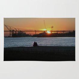 Daybreak on the river Rug