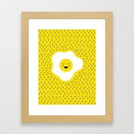 Eggs emoji Framed Art Print