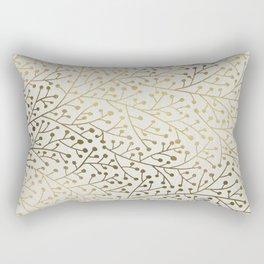 Gold Berry Branches Rectangular Pillow