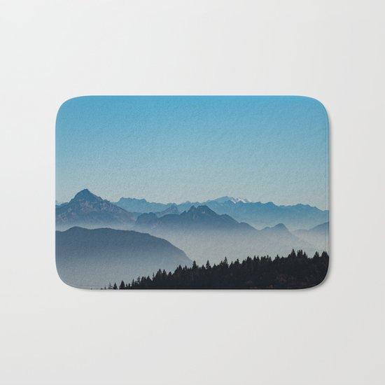 Blue Valley #mountains II Bath Mat