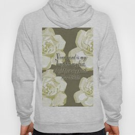 Scripture Gray,White Rose Hoody