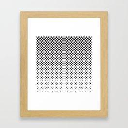 Halftone Black Dots Framed Art Print