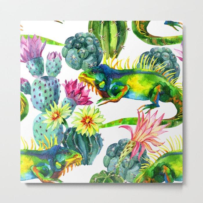 Mixed Cactus Metal Print