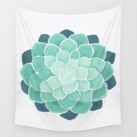 succulent Wall Tapestries featuring Succulent by Isotta Pavarin