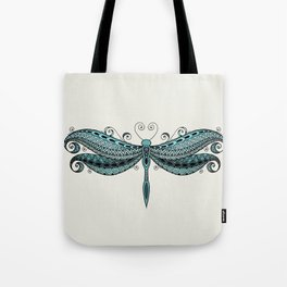 Dragonfly dreams turquoise Tote Bag