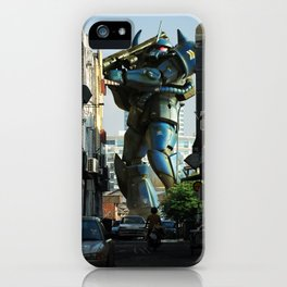 Mech behind a back alley iPhone Case