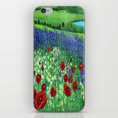 Blooming field iPhone & iPod Skin