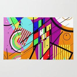 Crazy Retro 2 - Abstract, geometric, random collage Rug