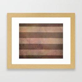 Mars Stripes Framed Art Print