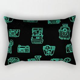 Cameras: Teal - pop art illustration Rectangular Pillow